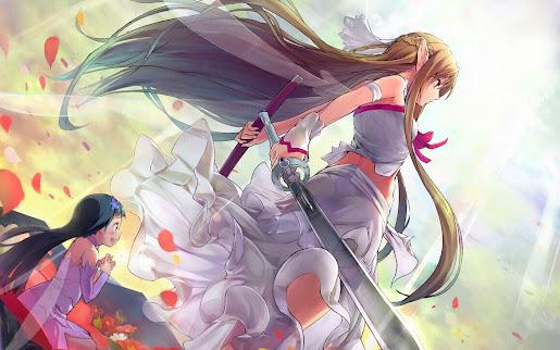 Asuna yuo alfheim sword art online girls hd wallpaper