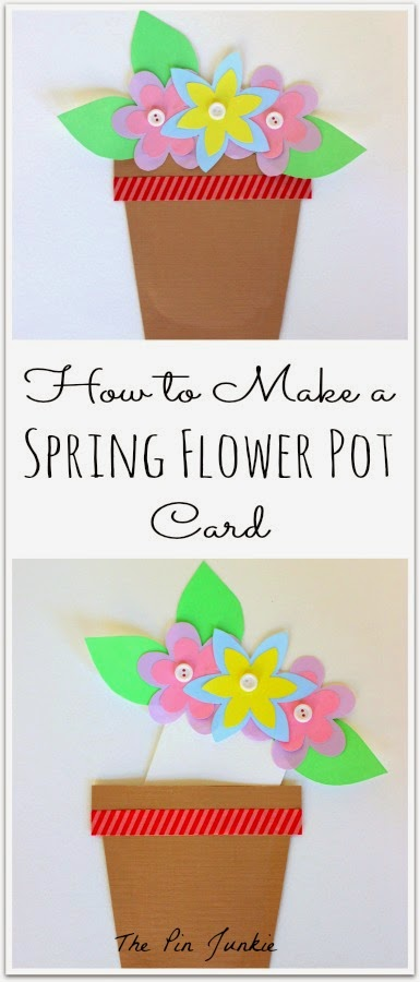 Spring Flower Pot Card