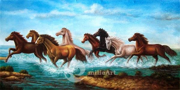 lukisan kuda lari