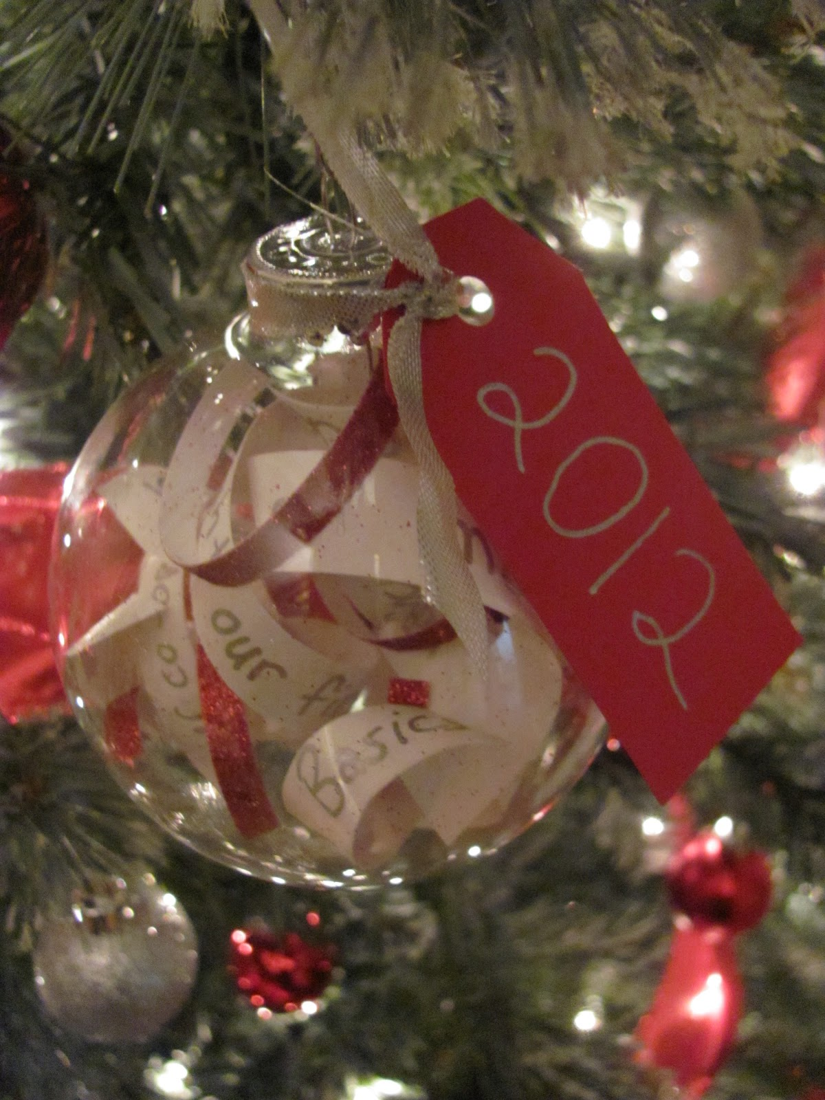 Yearly christmas ornaments - I Also Made An Ornament With Our Wedding Invitation Inside Which Was Inspired By Pinterest Of Course I Also Made A Few More Of These For Wedding Gifts
