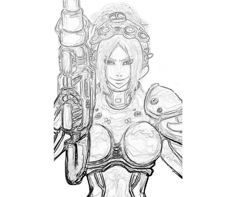 Starcraft ii heart of the swarm nova sketch surfing for Starcraft coloring pages