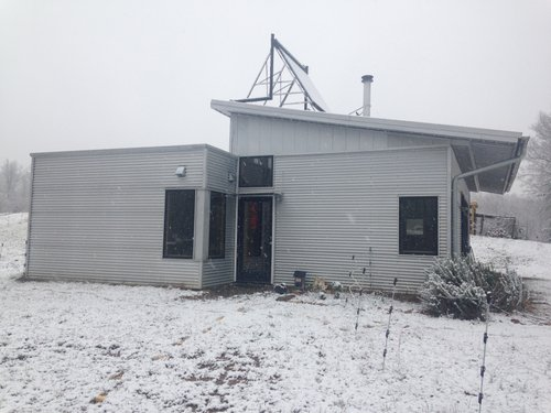 Passive Solar Modern Prefab Has Snow Off Grid And