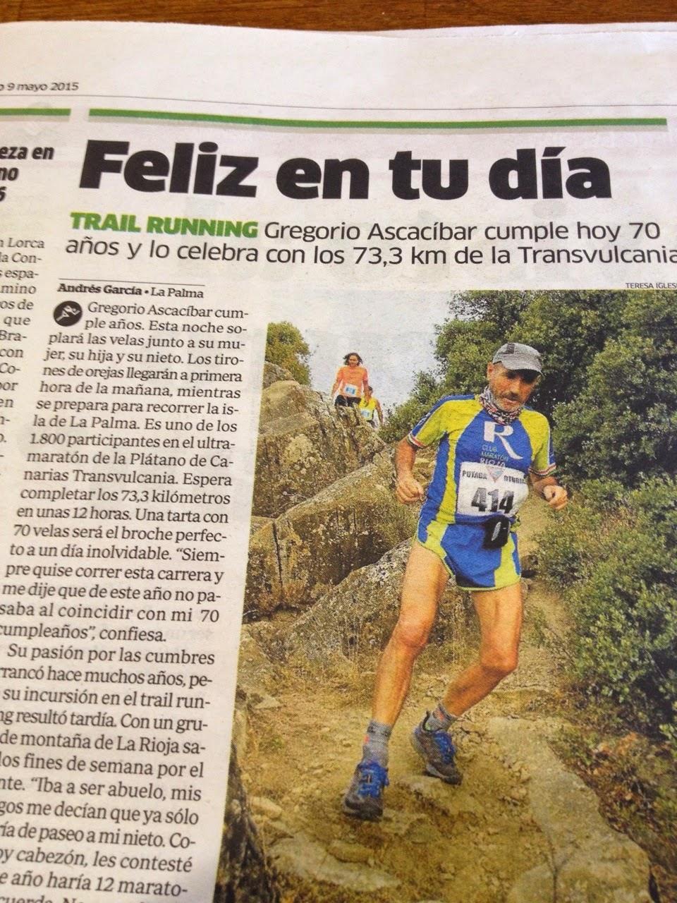 Luis Alberto Hernando en la ascensión al Roque de los Muchachos en la Transvulcania 2015. /TRAILCYL