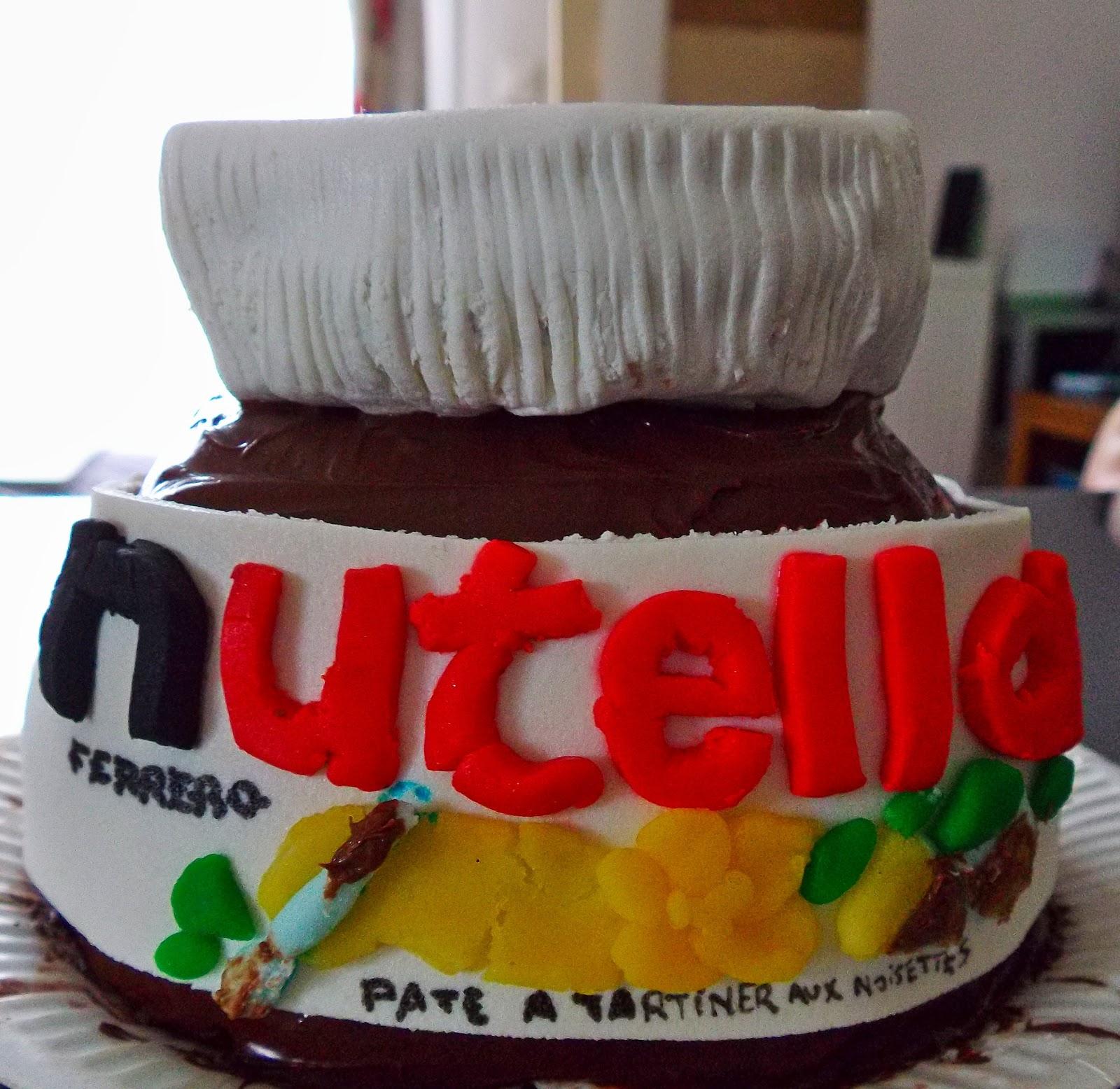 Fabuleux GATEAU GAGA - Love cakes: Le pot de Nutella EK39