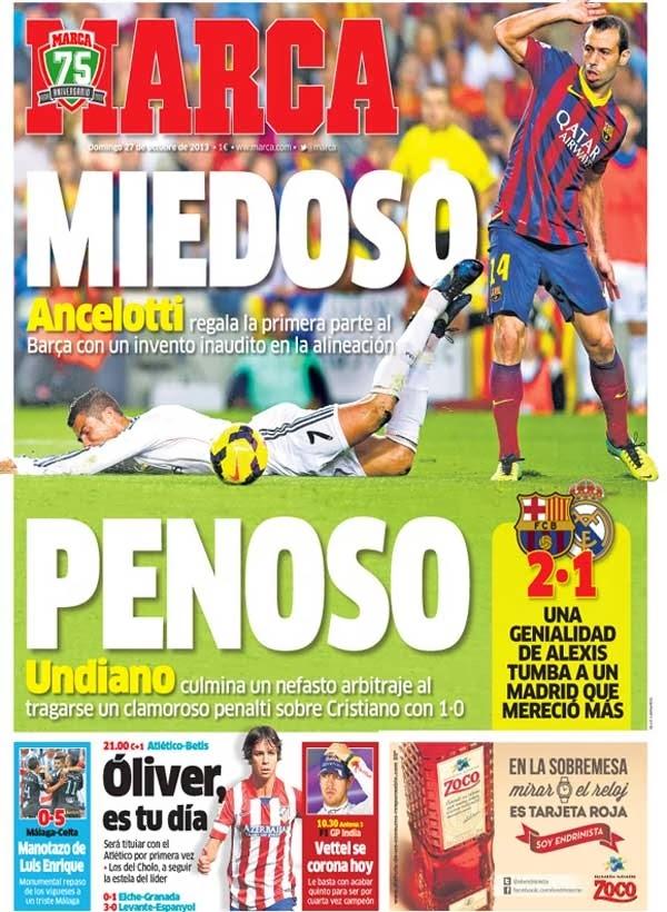 Real madrid tv barcelona 2 1 real madrid portadas de for Madrid sevilla marca