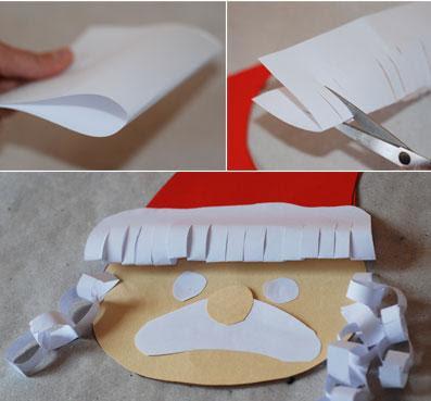 papai noel feito com argolas de papel
