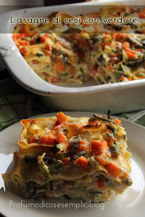 lasagne di ceci con verdure
