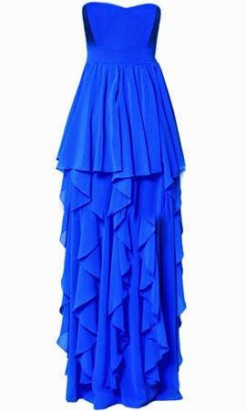 vestido largo para invitada de boda de Poete en azul