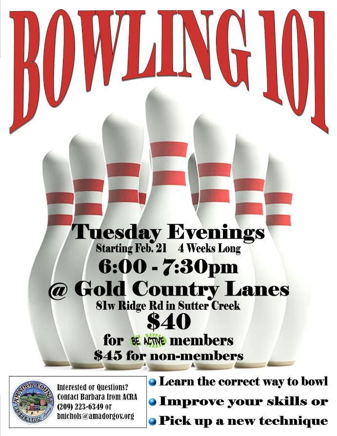 Bowling 101 starts Feb 21