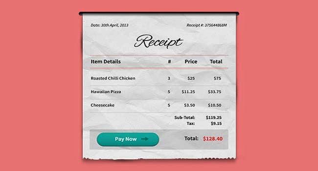 Payment Receipt PSD