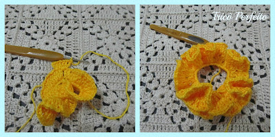 Esponja de Banho de crochê com PAP