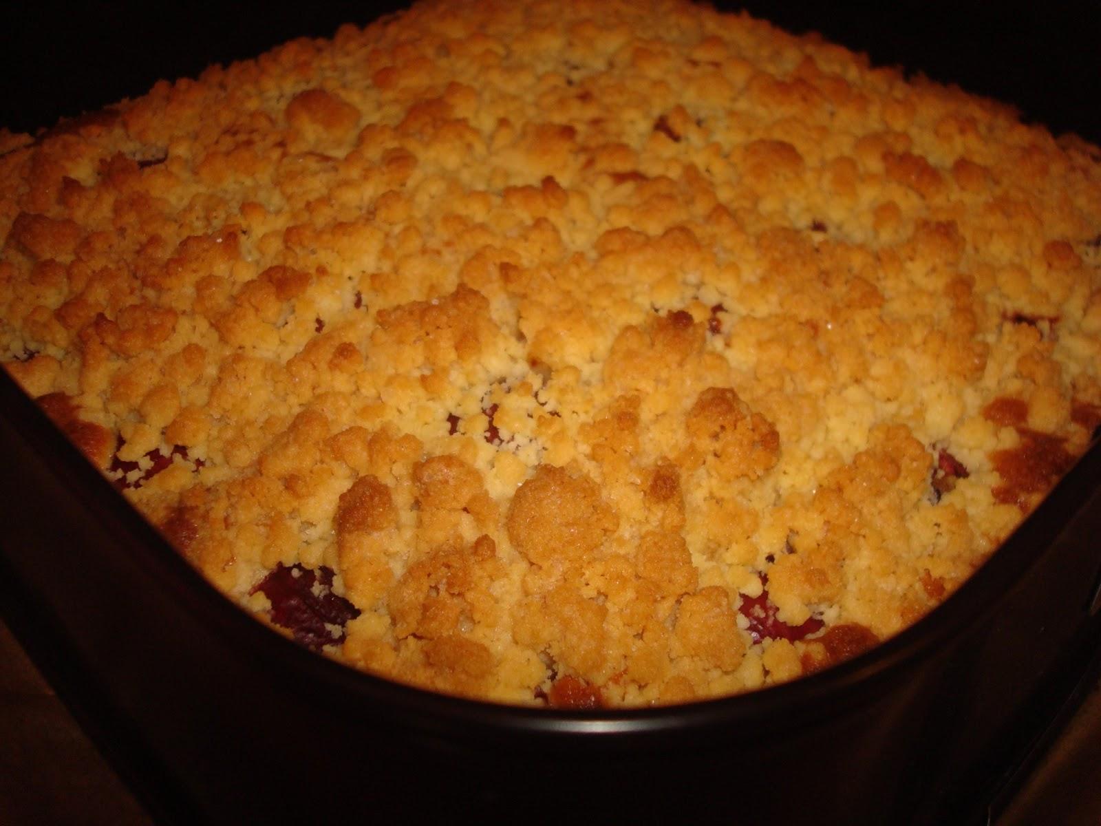 Kuchenne Hity Ciasto Ucierane Z Owocami I Kruszonka
