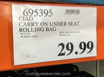 Deal for the Ciao Under-the-Seat Travel Case at Costco