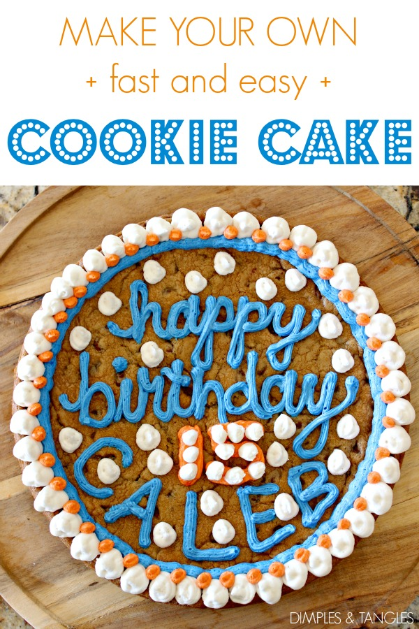 Something To Put Candles On For Their Real Birthday If It Happens Be A Different Day So He Requested Cookie Cake His Back Up This Year