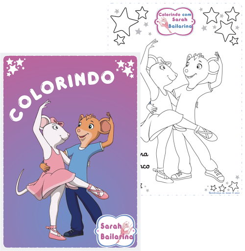 Revista Personalizada Angelina Bailarina Festa Aniversário Infantil
