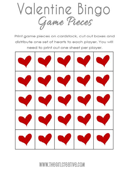 Printable Valentines Day Bingo Cards 3