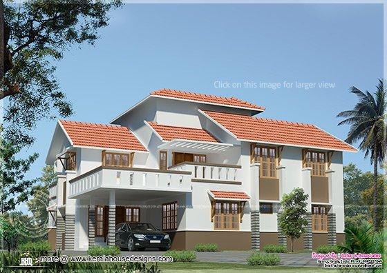 Slanting roof Indian home