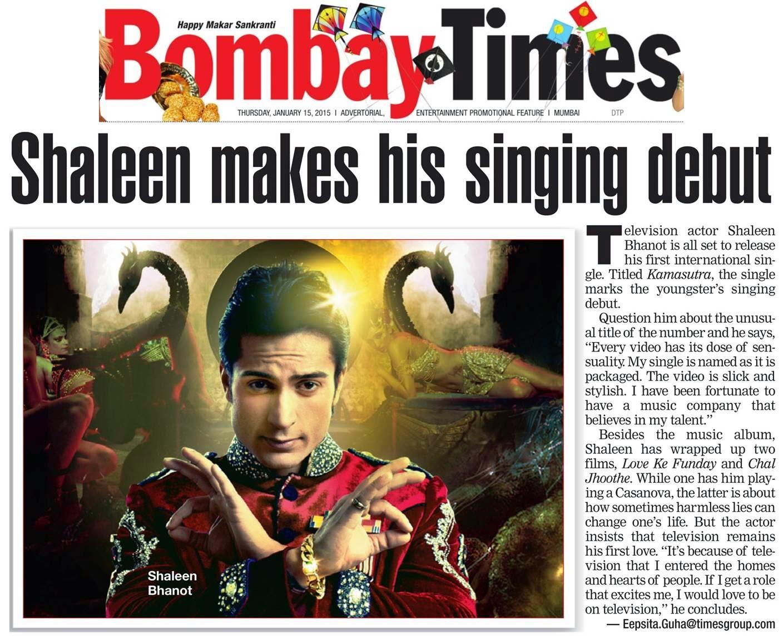 Shaleen Bhanot makes his Singing Debut