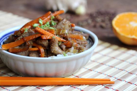 Crunchy Szechuan Pork and Carrots