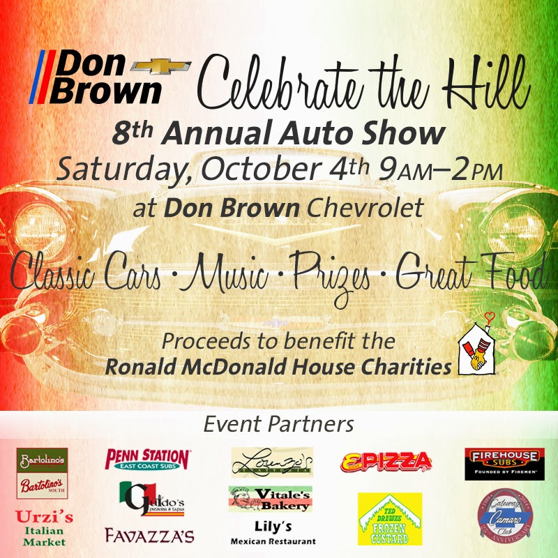 """Celebrate the Hill"" 8th Annual Auto Show on October 4th at Don Brown Chevrolet!"
