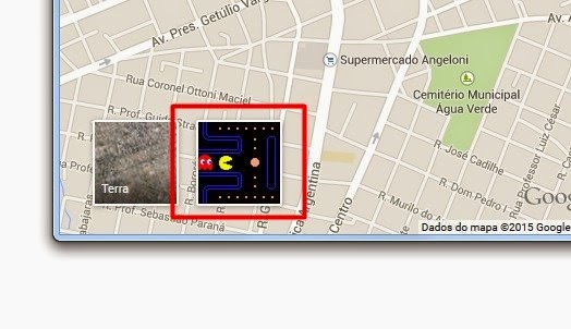 Pac-Man no Google Maps: Fonte imagem: http://img.ibxk.com.br/2015/03/31/31131111561478.jpg?w=1040