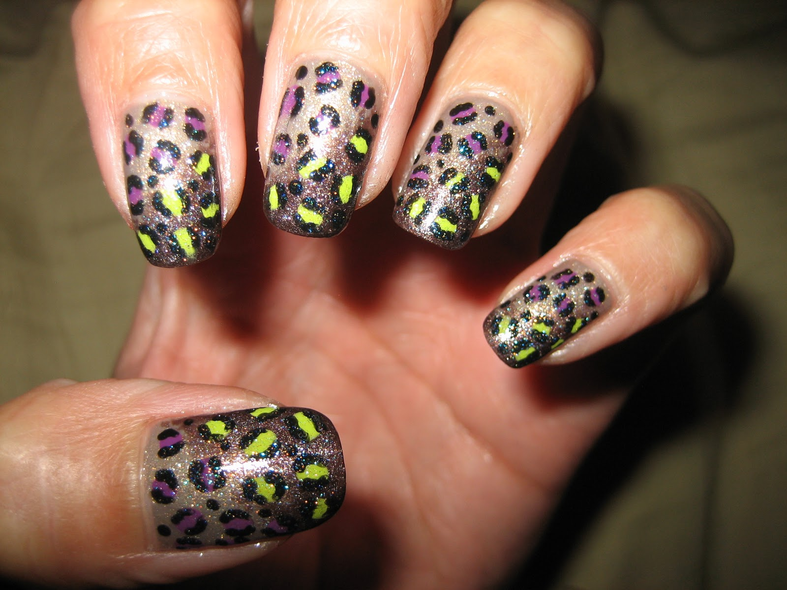 Awesome Nails By Nicole Awesome Gradient Leopard Nail Design
