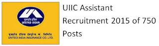 UIIC Assistant Recruitment 2015