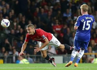 Nemanja Vidic Manchester United v Chelsea 2013