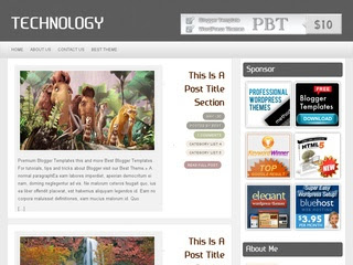 Technology Blogger template