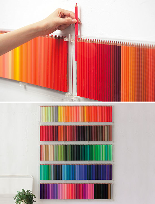 Do It Yourself Wall Art colored pencil wall art ~ now that's nifty
