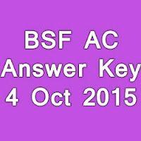 BSF AC Exam Paper Solution 2015