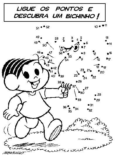 desenhos para colorir e imprimir liga   pontos turma da m nica