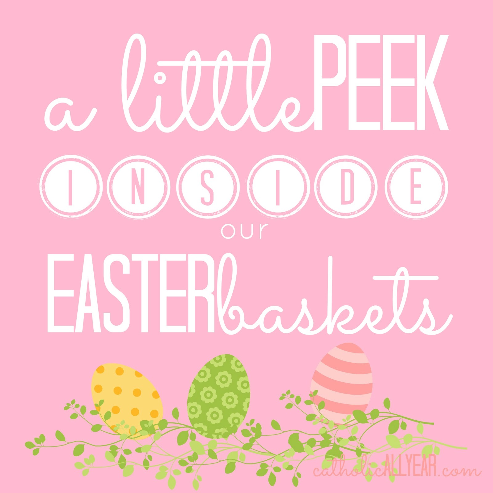 Catholic all year a little peek inside our easter baskets hint a little peek inside our easter baskets hint its mostly books plusgift ideas and new easter printables negle Choice Image