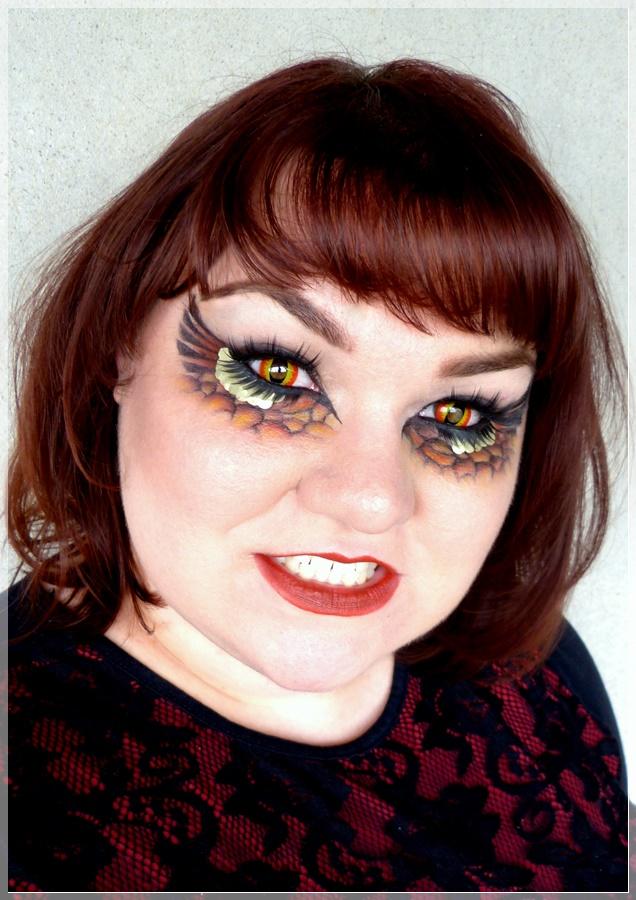 Drachen Make Up schminken