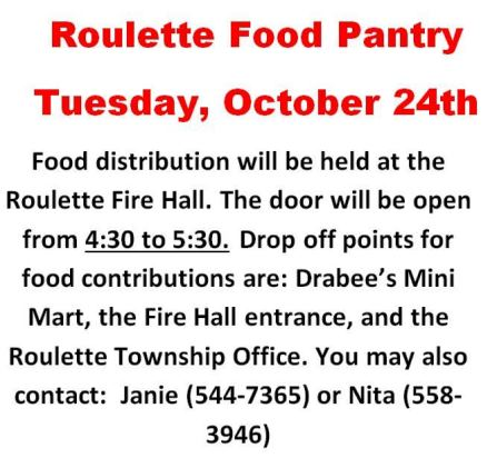 10-24 Roulette Food Pantry