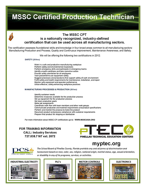 Ptec Partners With Mssc To Provide Cpt Training In November Enroll