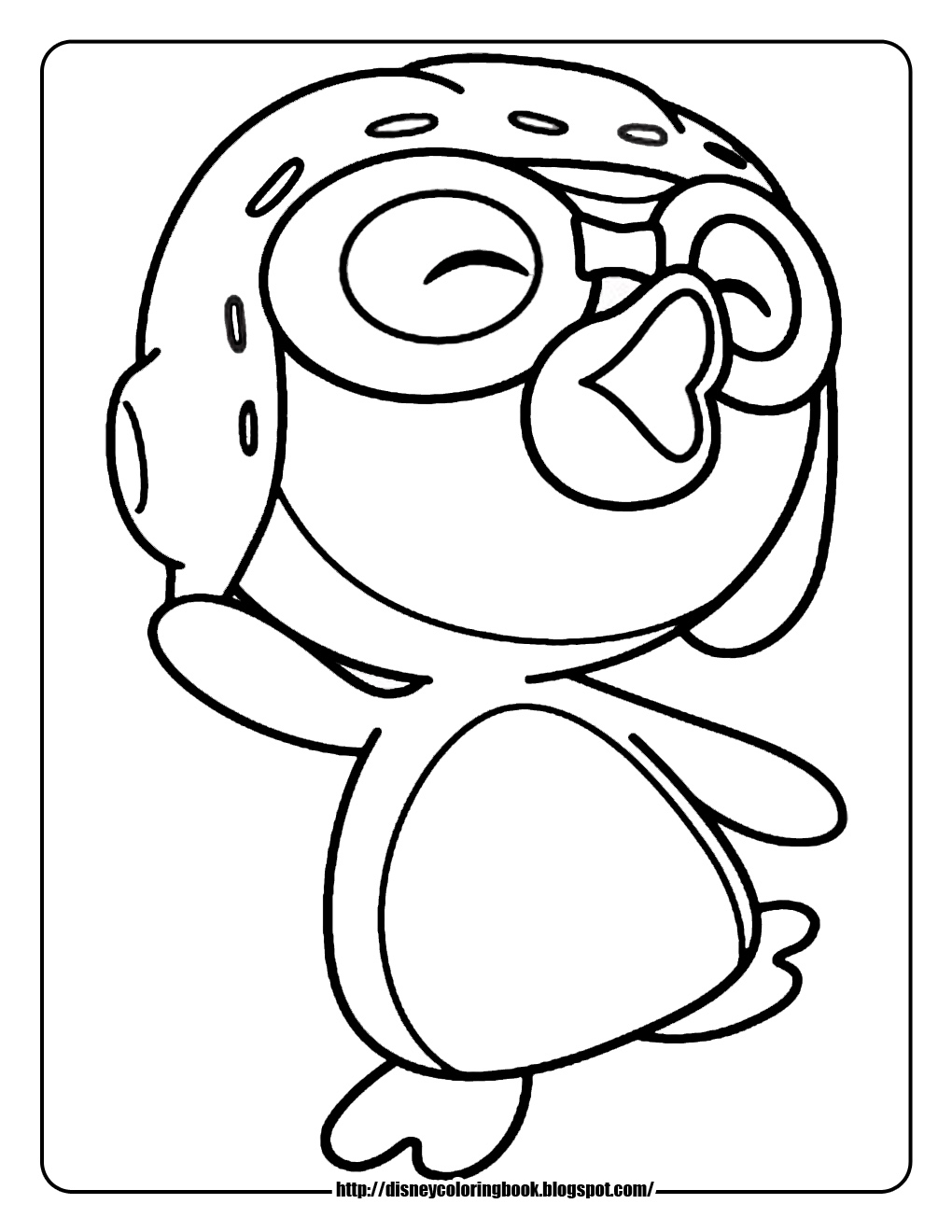 Penguin Coloring Pages Minister