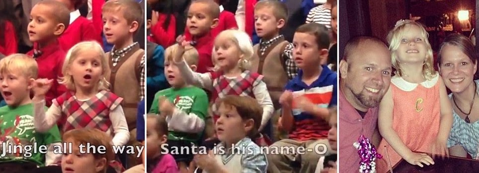 A Real Signer..Five Year Old Florida Girl Signs Christmas Carols to Deaf Parents