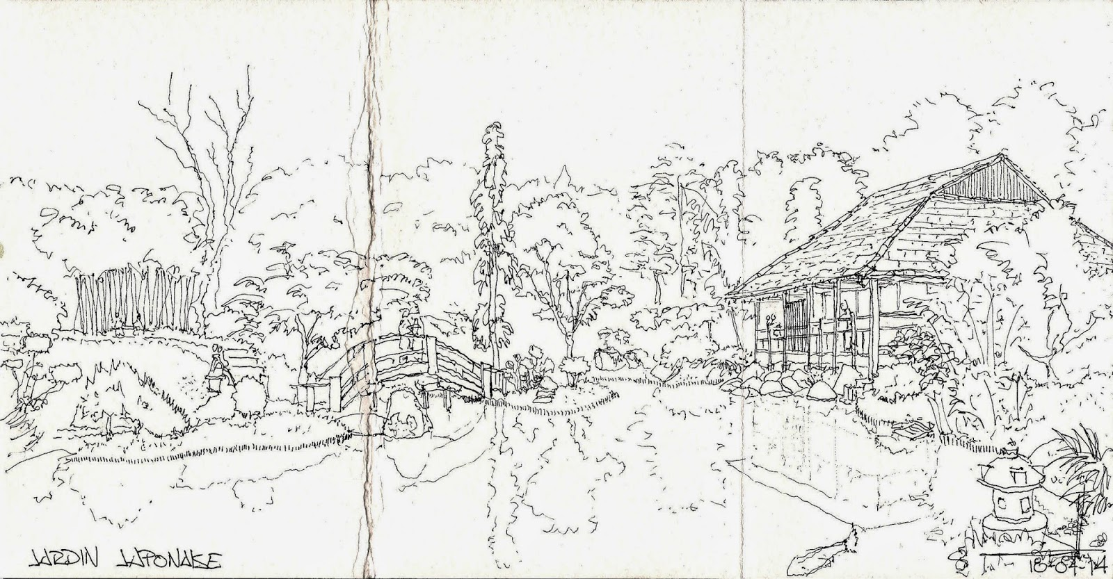 Sketch ing palencia viaje a toulouse for Jardin japones toulouse