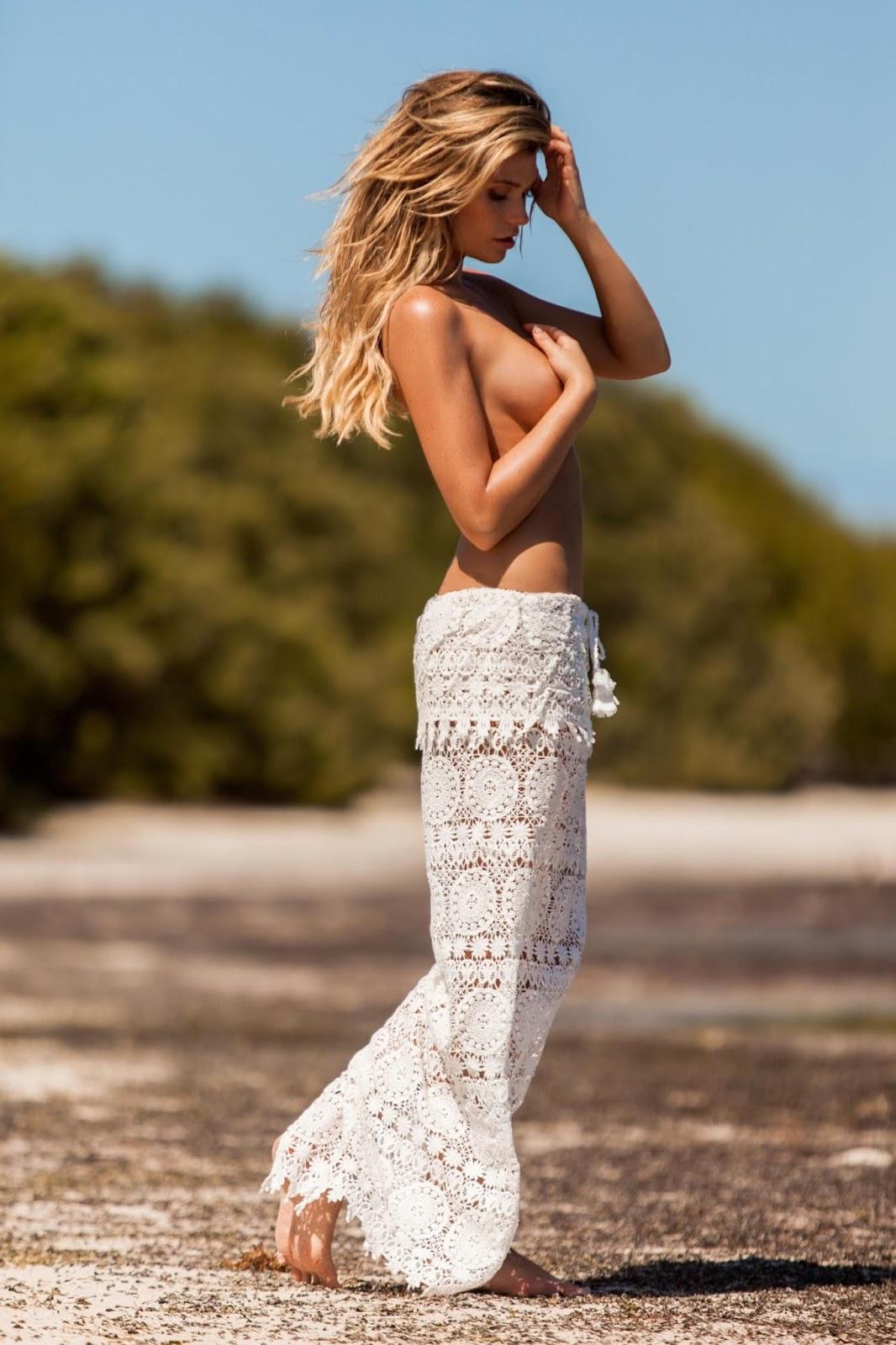 Samantha Hoopes Plumeria Swimwear 2015 Photoshoot