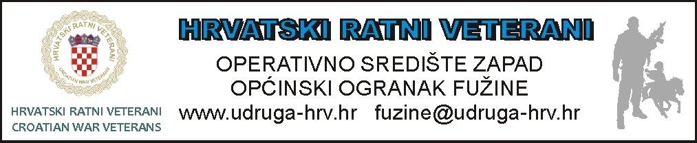 HRVATSKI RATNI VETERANI FUŽINE
