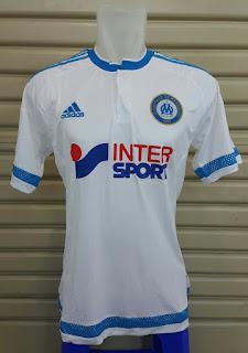 gambar detail baju bola photo berita bocoran Jersey Marseille home terbaru musim depan 2015/2016