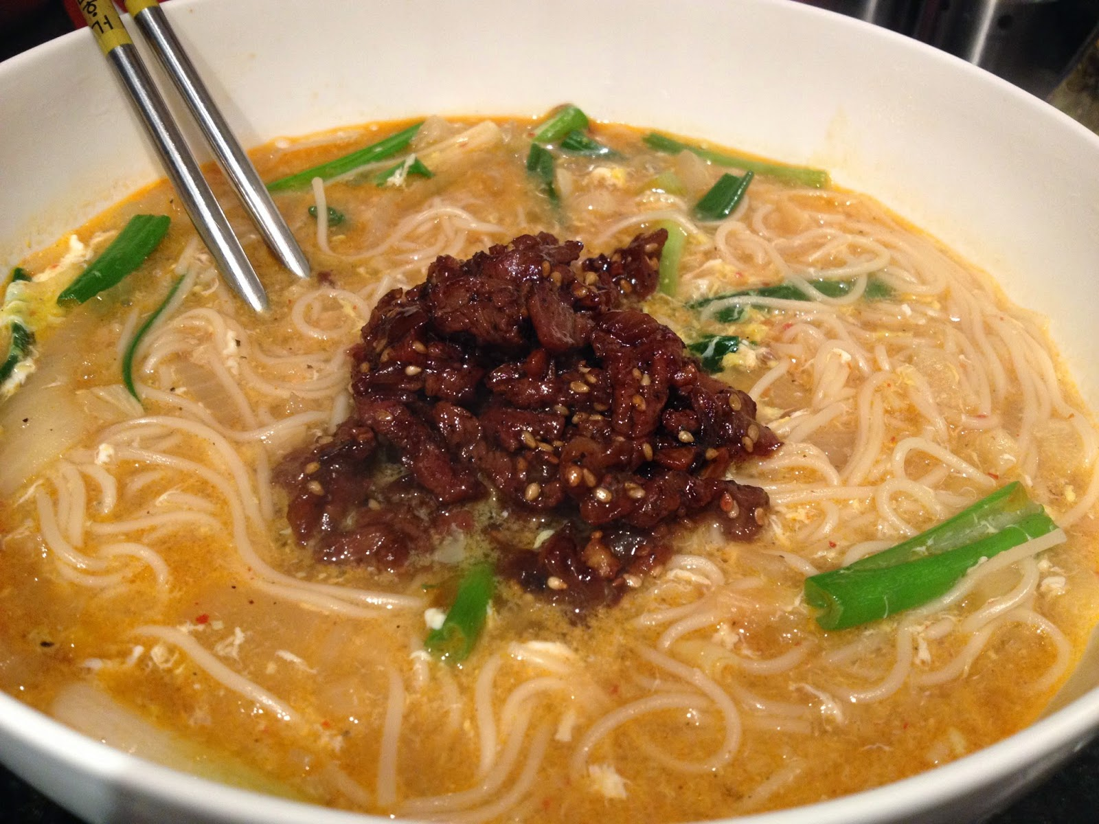 #Guk Su Korean Somen Noodles in Beef Broth