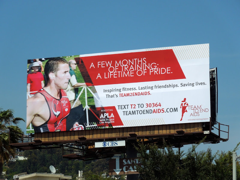 Team to End AIDS billboard