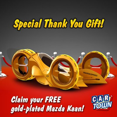 Car Town: Regalo exclusivo Mazda Kaan Dorado