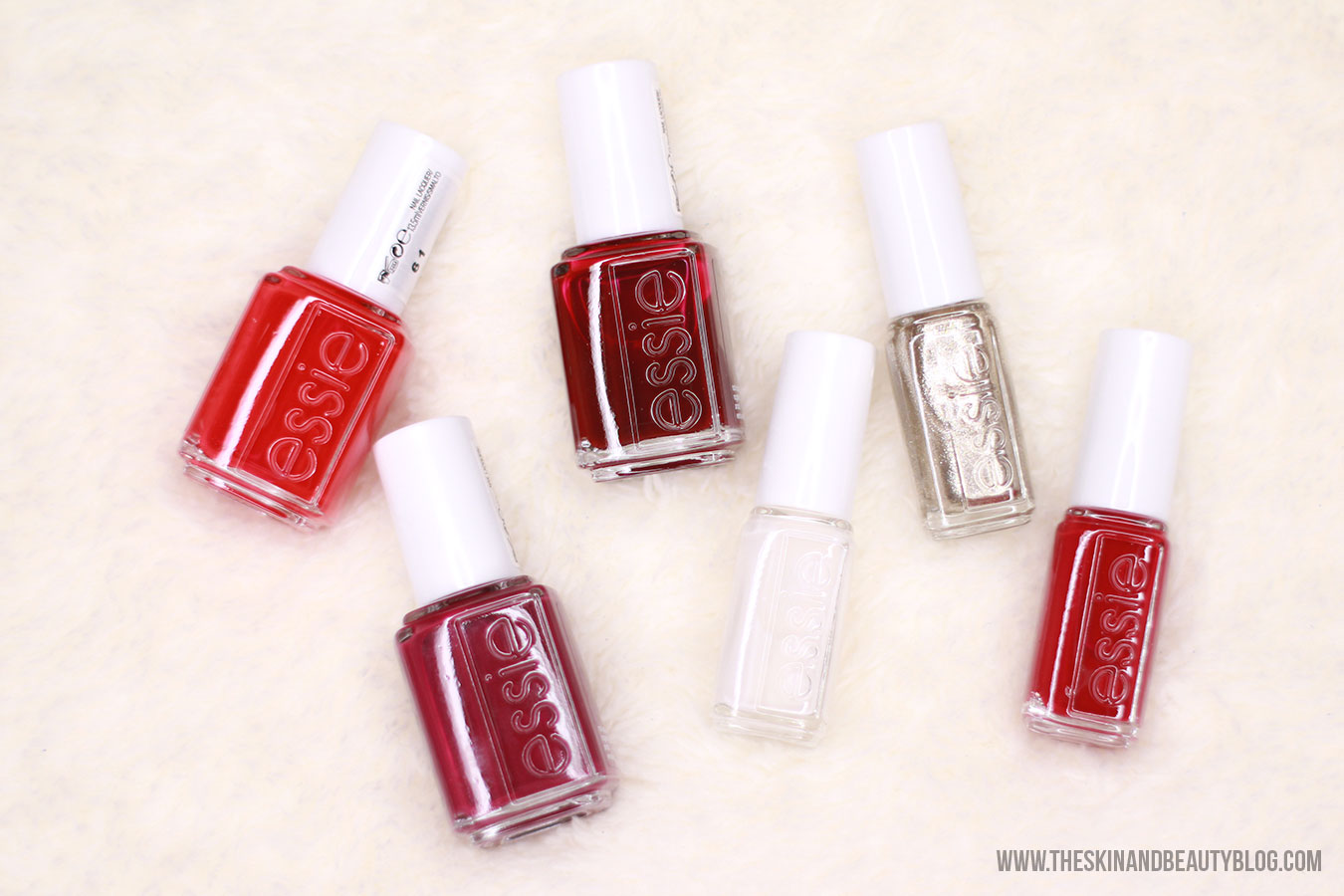 Essie nail polish haul swatches red