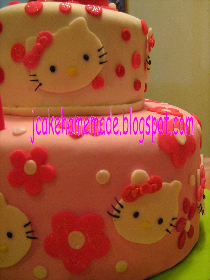 Hello Kitty birthday cake. Happy 10th birthday Evelyn