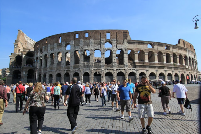 Roman Colosseum in Rome, Italy