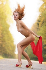 "Dasha in ""Red Autumn"" at Rigin Studio"