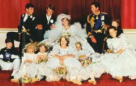 Royal Wedding Pictures: Prince Charles and Princess Diana surrounded by bridesmaids
